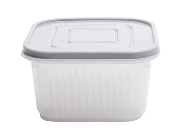 配料瀝水保鮮盒(方形) 1入 顏色隨機出貨【D020601】