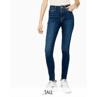 トップショップ Topshop Tall レディース ジーンズ・デニム ボトムス・パンツ Jamie skinny jean in rich blue ブルー
