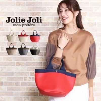 [Jolie Joli] ジョリージョリ トート バッグ スカーフ 付き バイカラー 迷彩 柄 レディース 全6色