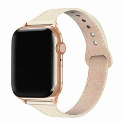 ンパチブル apple watch バンド 38mm 40mm、女性ガールウォッチストラップ交換用、本革ルプアッープ交換用細いストラップリストバンド iW