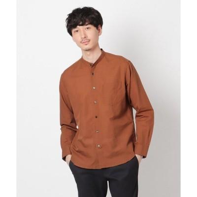 シャツ ブラウス Herdmans Linen バンドカラーシャツ