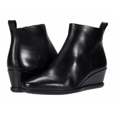 ECCO エコー レディース 女性用 シューズ 靴 ブーツ アンクル ショートブーツ Shape 45 Wedge Ankle Boot Black Cow Leather【送料無料】
