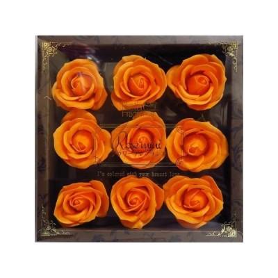 お花の入浴剤 ソープフラワー 花材 ギフト フレグランス プリザーブドフラワー 母の日 結婚式 記念日 誕生日 プロポーズ ローズ プレゼント 女性 オレンジ