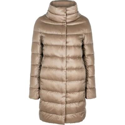 ヘルノ Herno レディース コート アウター icon taupe quilted shell coat Natural