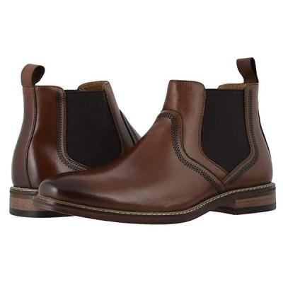 Stacy Adams Altair Plain Toe Chelsea Boot メンズ ブーツ Cognac