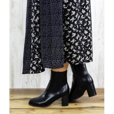 minia / スタックヒールミドルブーツ ■ WOMEN シューズ > ブーツ