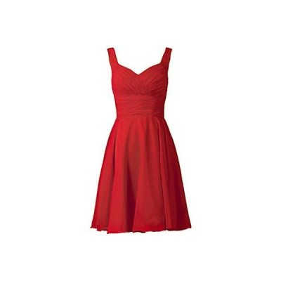 - ドレス ワンピース ANTS 6025 レディース レッド Pleated ノースリーブ Fit & Flare Semi-Formal ドレス 2 BHFO
