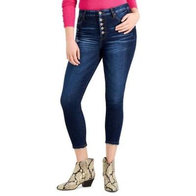 セレブリティピンク レディース デニムパンツ ボトムス Juniors' High-Rise Cropped Skinny Jeans