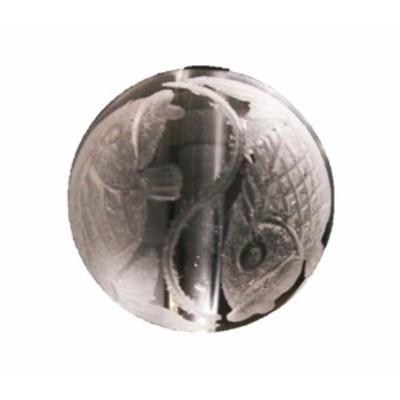 夫婦鯉 10mm玉ビーズ 水晶 【穴あり一粒売りビーズ】 天然石 パワーストーン