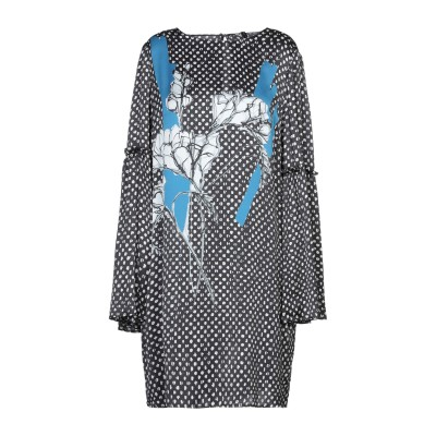 マニラ グレース MANILA GRACE ミニワンピース&ドレス ブラック 42 レーヨン 100% ミニワンピース&ドレス