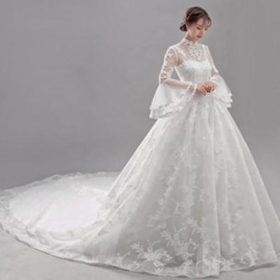 Aライン/ウェディングドレス/ウエディングドレス/ロングドレス/ロングトレーン/編み上げ/オフホワイト/S~XXL/wd68m