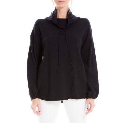 マックスタジオ レディース ニット&セーター アウター Drawstring Cowl Neck Sweater BLACK