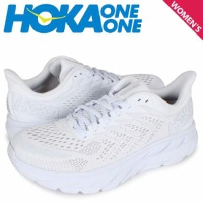 HOKA ONE ONE ホカオネオネ クリフトン7 スニーカー レディース 厚底 CLIFTON 7 ホワイト 白 1110509