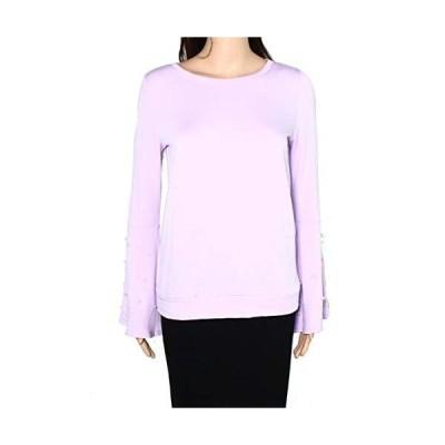 INC Women's Sweaters Large Boat Neck Peal Embellished Purple L並行輸入品 送料無料