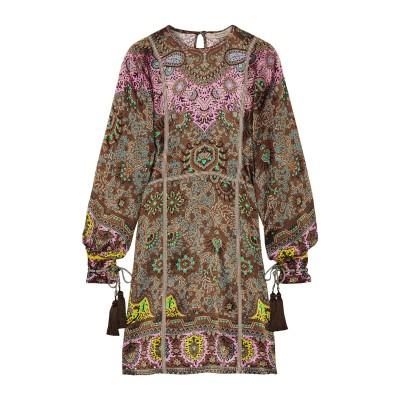 エトロ ETRO ミニワンピース&ドレス ココア 40 シルク 100% ミニワンピース&ドレス