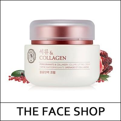 [THEFACESHOP] Pomegranate and Collagen Volume Lifting Cream 100ml / ザクロとコラーゲン ボリュームリフティングクリーム 100m