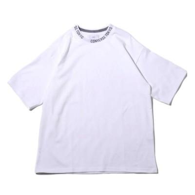 【アトモス ピンク/atmos pink】 CONVERSE TOKYO ロゴ襟 Tシャツ ホワイト 19SS-I