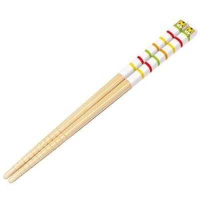 竹箸 16.5cm しまじろう すべり止め加工 子供用 キャラクター ( 竹安全箸 子供用お箸 はし 箸 ハシ )
