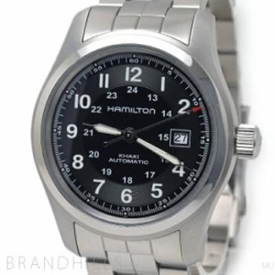 ハミルトン 腕時計 メンズ カーキ フィールド 自動巻き SS ブラック文字盤 H705450 HAMILTON 【中古】