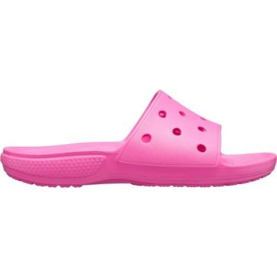 クロックス サンダル シューズ レディース Crocs Adult Classic Slides ElectricPink