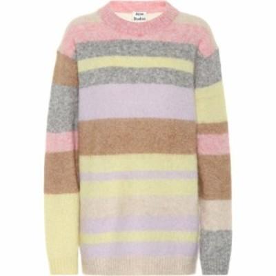 アクネ ストゥディオズ Acne Studios レディース ニット・セーター トップス Striped wool and mohair sweater Lilac/Yellow Multi