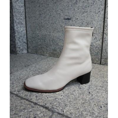 FABBY FABBY. / ストレッチバックファスナースクエアトゥショートブーツ WOMEN シューズ > ブーツ