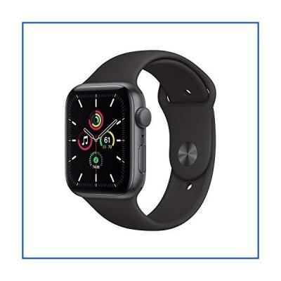 【新品】Apple Watch SE (GPS、44mm) - スペースグレーアルミニウムケース ブラックスポーツバンド付き【並行