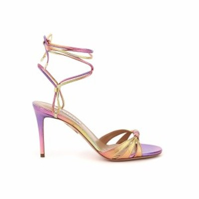 AQUAZZURA/アクアズーラ Mixed colours Aquazzura tecnometal nappa sandals レディース 春夏2021 SOLMIDS1 TMN ik