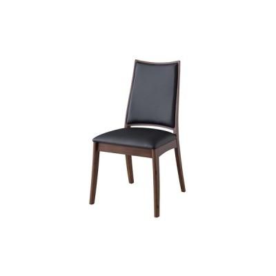 ダイニングチェア(ブラック/黒)〈RP-502LBK〉パーソナルチェア アームレスチェア デザインチェア 合皮 椅子 スタイリッシュ インテリア 家具 おしゃれ