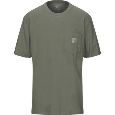 カーハート CARHARTT メンズ Tシャツ トップス T-Shirt Military green