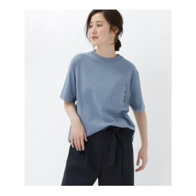 ベース コントロール BASE CONTROL 【WEB限定】半袖 ヘビーウェイトポケットTシャツ クルーネック (ライトブルー)