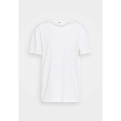 モス コペンハーゲン レディース Tシャツ トップス LIV RUBBER PRINT TEE - Basic T-shirt - egret egret