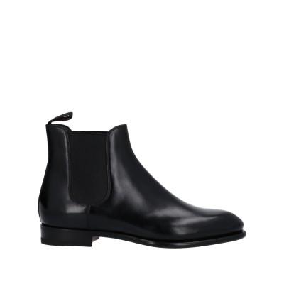 SANTONI ショートブーツ ブラック 35 革 ショートブーツ
