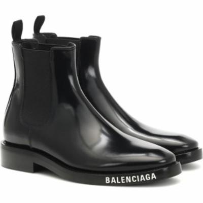 バレンシアガ Balenciaga レディース ブーツ ショートブーツ シューズ・靴 patent-leather ankle boots Black