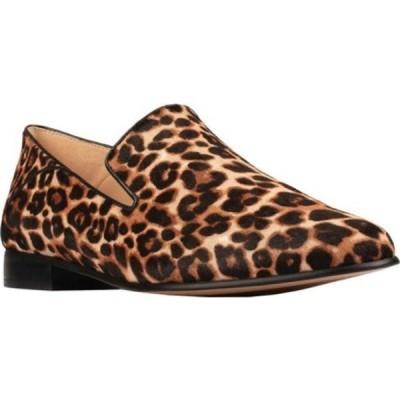 クラークス スニーカー シューズ レディース Pure Viola Loafer (Women's) Leopard Print Full Grain Leather