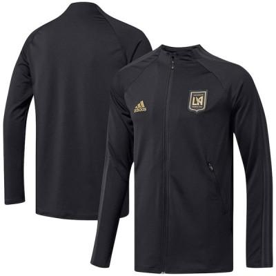 """アディダス メンズ ジャケット """"LAFC"""" adidas 2020 On-Field Anthem Full-Zip Jacket - Black"""