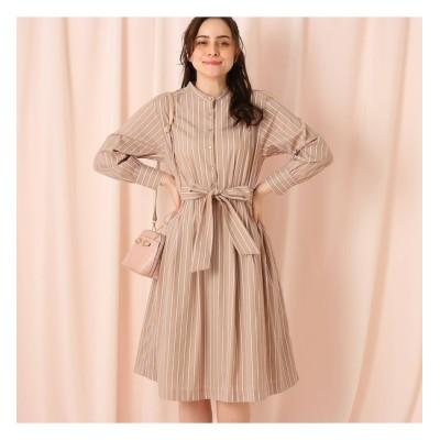 【クチュール ブローチ/Couture brooch】 【WEB限定サイズ(LL)あり】ドビーストライプシャツワンピース