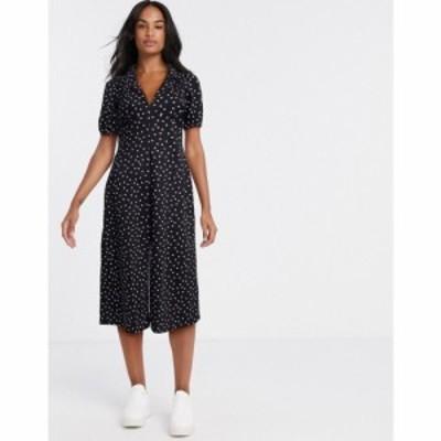 エイソス ASOS DESIGN レディース ワンピース ミドル丈 ワンピース・ドレス ultimate midi tea dress in polka dot モノスポット