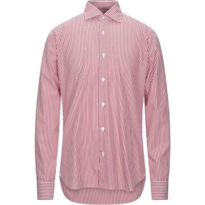ダンディライフ DANDYLIFE by BARBA メンズ シャツ トップス Striped Shirt Red