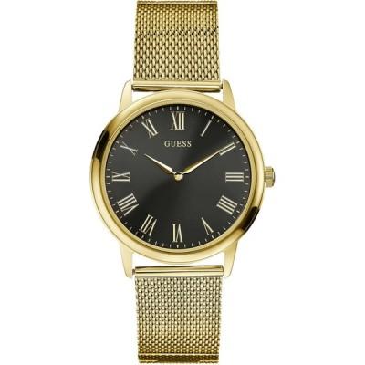 腕時計 ゲス GUESS W0406G6,Men's Dress,Stainless Steel,Gold-Tone,Black Dial,WR