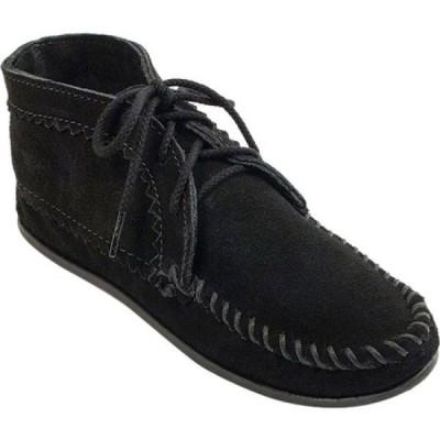 ミネトンカ Minnetonka レディース ブーツ ショートブーツ シューズ・靴 Suede Ankle Boot Black Suede