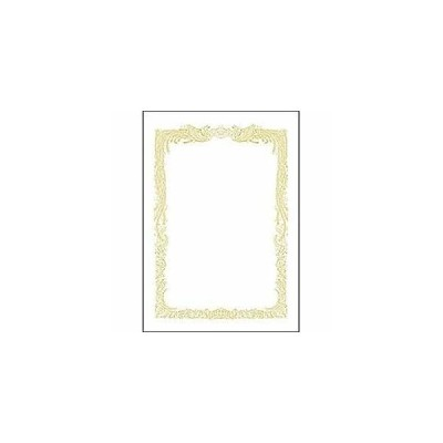 ササガワ ミニOA賞状用紙 横書用(A5サイズ・10枚) 10‐551 (ホワイト)