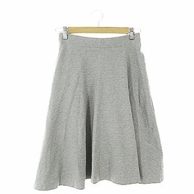 【中古】ルラシェ Relacher スカート フレア ひざ丈 F グレー /AAM4 レディース