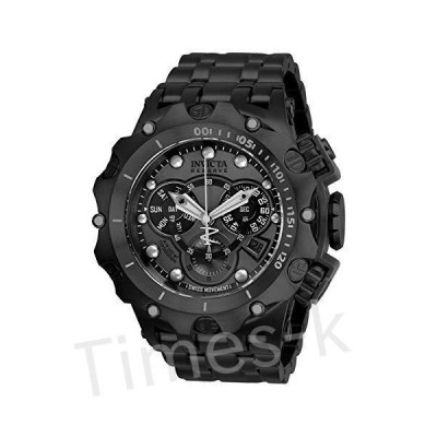 Invicta Men's Reserve Quartz Watch with Stainless Steel Strap, Black, 31 (M