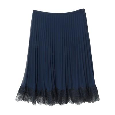 GIORGIO GRATI ひざ丈スカート ダークブルー 42 ポリエステル 100% / シルク / ナイロン ひざ丈スカート