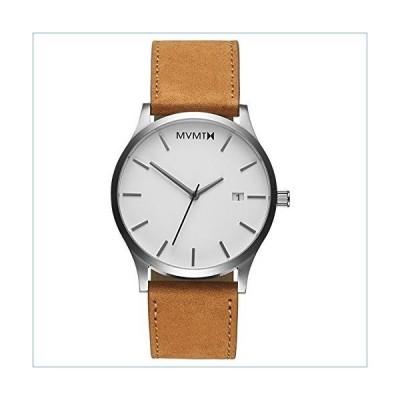 MVMT Classic White Dial Men's Tan Leather Watch L213.1L.331並行輸入品