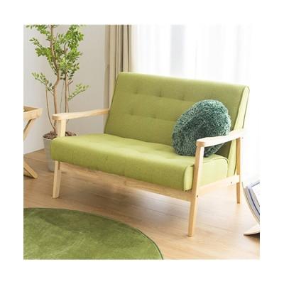 フレームの色が選べる北欧カラーの木肘ソファー ソファー, Sofas(ニッセン、nissen)