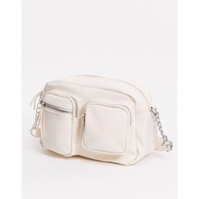 ピーシーズ Pieces レディース ショルダーバッグ バッグ melira cross body bag in white ホワイトペッパー