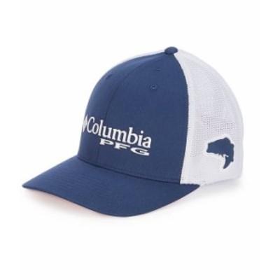 コロンビア レディース 帽子 アクセサリー PFG Mesh Cap Carbon/White/Red Spark
