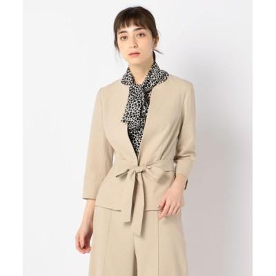 NARACAMICIE / 《セットアップスーツ対応》リボン付クルージャケット WOMEN ジャケット/アウター > ノーカラージャケット